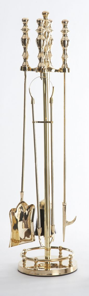 Brass Fireplace Set - LOW STOCK, ORDER NOW!