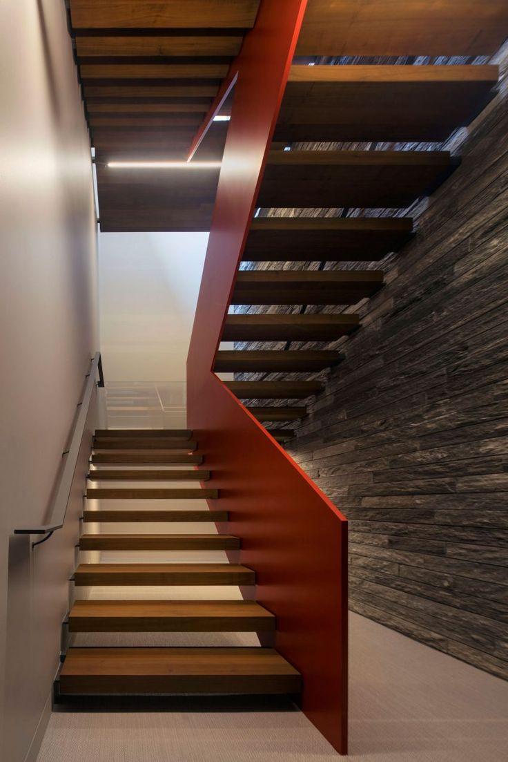 Alternating tread stair revit home design ideas - Bohlin Cywinski Jackson Design A Stunning Contemporary Residence In Aspen Colorado Stair Designlighting Designhouse