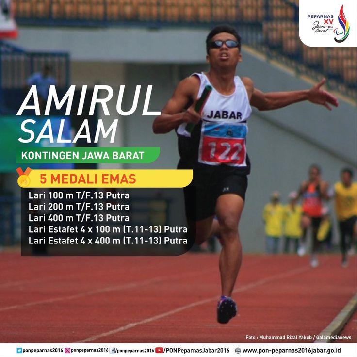 Amirul Salam, kontingen Jawa Barat yang meraih medali 5 emas pada #Peparnas2016.