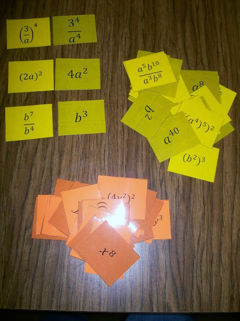 Book of Exponent Rules & Exponent card game (also used as matching activity)