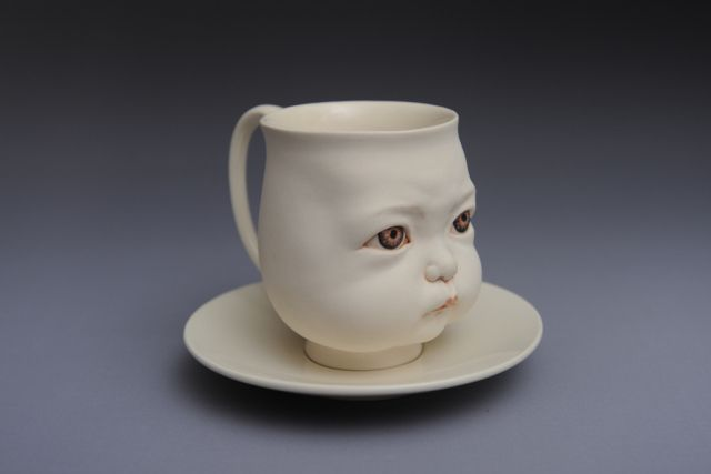 A Cup of Tear Porcelain L18 W18 H13cm  2015 by Johnson Tsang