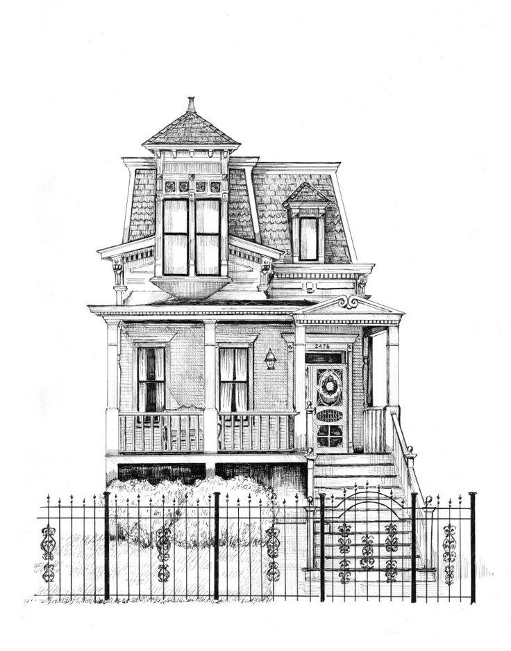 Galeria de Artista cria ilustrações detalhadas de casas e edifícios de Chicago - 2