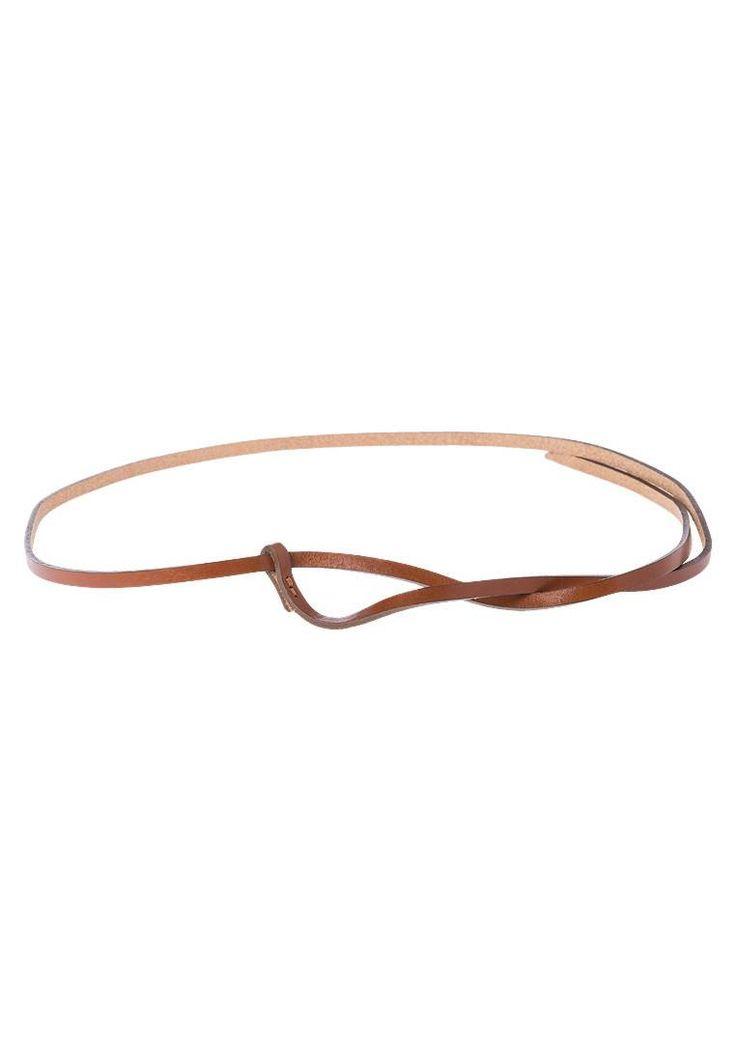 Vanzetti. Cintura - cognac. #cintura #cinture #vitaalta #zalandoIT #fashion Composizione:100% Pelle. Chiusura:Nodo. Fantasia:monocromo. Larghezza:0.7 cm nella taglia 105