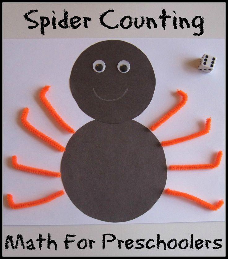Fun Halloween-themed math activity for preschoolers...