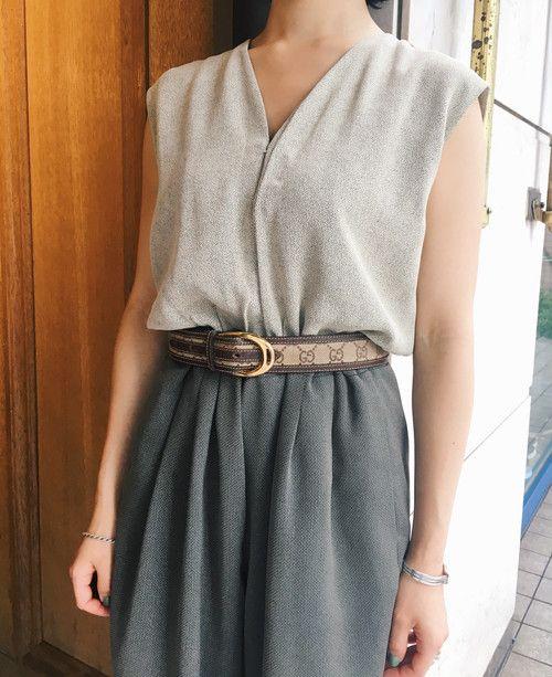 OLD GUCCI leather belt | VINIVINI ONLINE SHOP