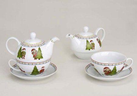 Weihnachten Teekannen-Set - Tea for One: Amazon.de: Küche & Haushalt