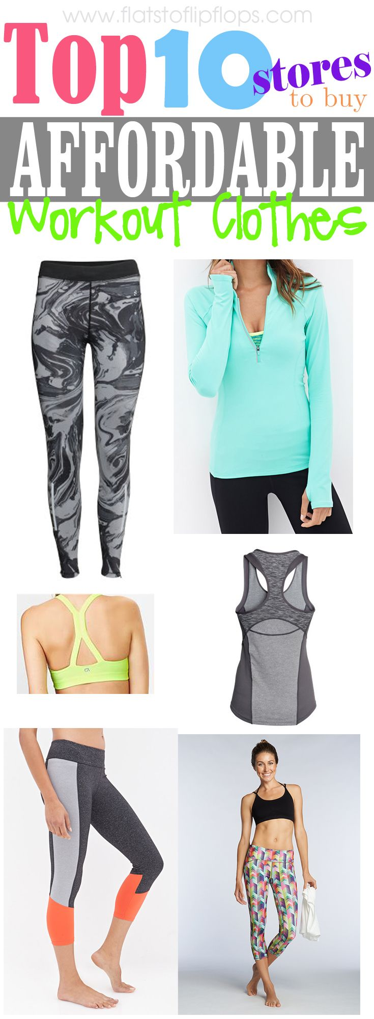 www.flatstoflipflops.com Top 10 Stores for Affordable active wear!