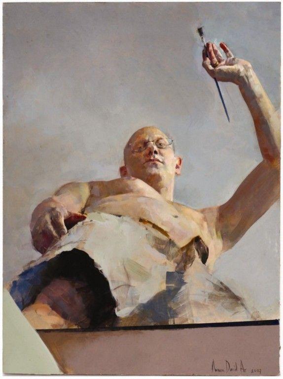 Self Portrait in Foreshortening by Amnon David Ar  Tel Aviv, Israel