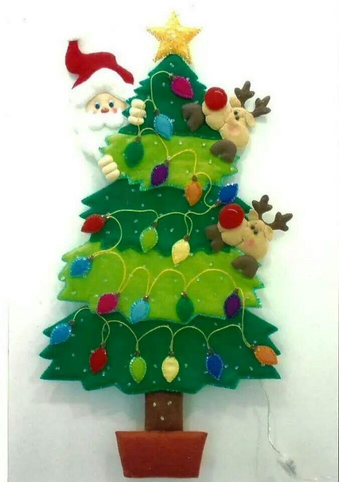341 mejores im genes sobre santa en pinterest diy y - Decoracion arboles navidenos ...