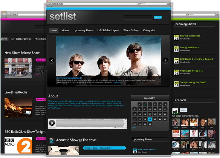12 best WordPress Themes for Musicians images on Pinterest ...