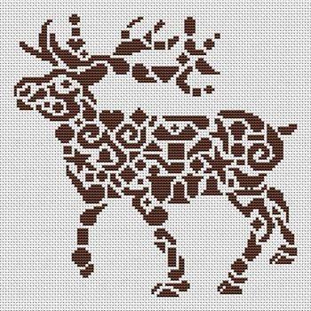 Tribal Reindeer - Cross Stitch Pattern