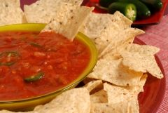"""Excellent salsa recipe! I freeze it instead of canning it, though (just easier). I substitute cider vinegar, as well as adding chili powder, Franks' red hot, chinese chili-garlic sauce and some white sugar, all """"to taste"""". The cilantro really makes it!"""