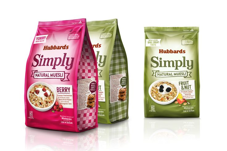 Before & After: Hubbards Simply Muesli — The Dieline - Branding & Packaging