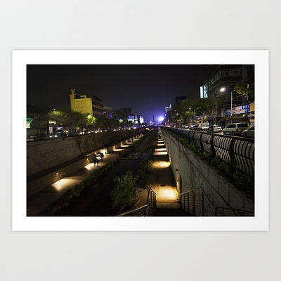 Seoul Stream Art Print by LinnB
