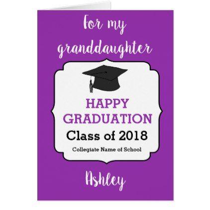 Class Of 2018 Granddaughter Graduation Card In 2018 Graduation