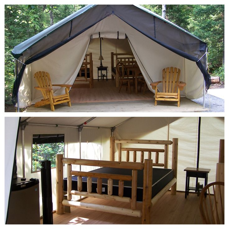 Deluxe Tent - Arrowhead Provincial Park - http://www.ontarioparks.com/roofedaccommodation/