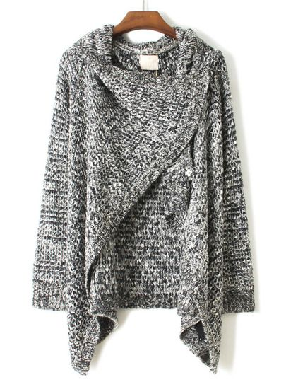 Jersey loose round neck long-sleeved gray