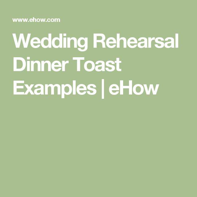Wedding Rehearsal Dinner Toast Examples   eHow