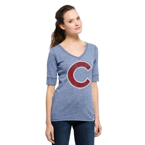 Chicago Cubs '47 Women's Roster Half-Sleeve T-Shirt - Royal - $35.99