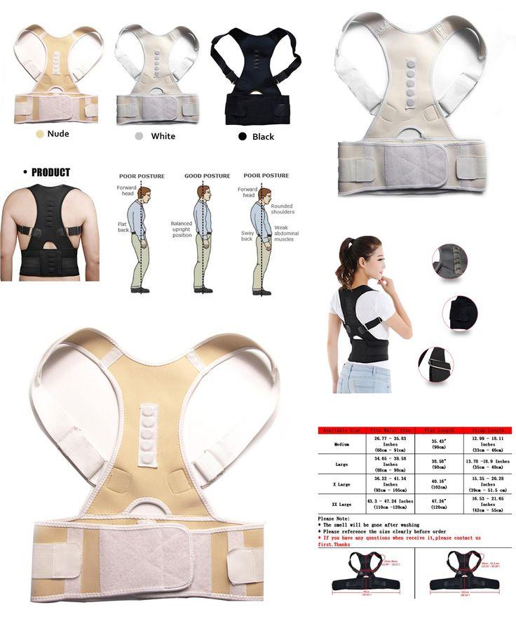 [Visit to Buy] Aptoco Magnetic Therapy Posture Corrector Brace Shoulder Back Support Belt for Men Women Braces & Supports Belt Shoulder Posture #Advertisement