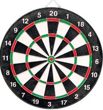 Dartbord met 6 dartpijlen (38cm)