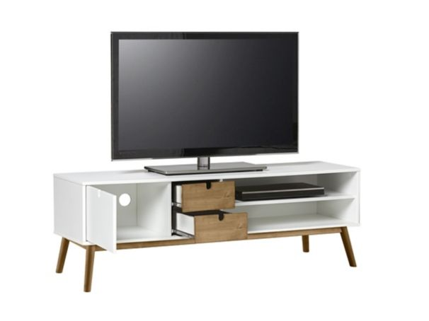 Meuble Tv Scandinave Teodor Blanc Pin Massif Meuble Tv Meuble Tv Scandinave Mobilier De Salon