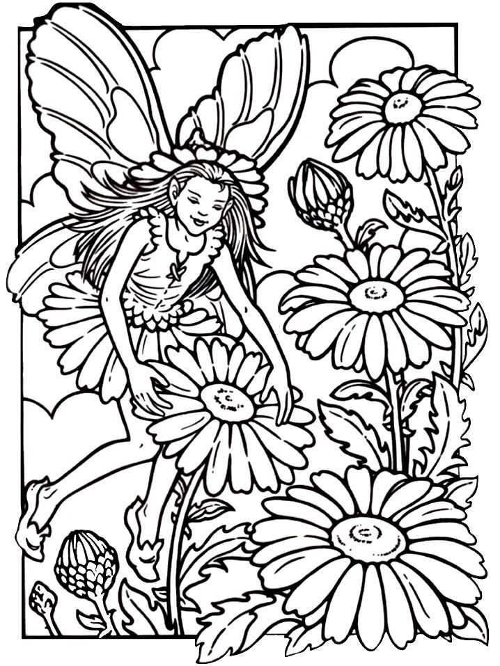 fairy coloring pages for kids Fairy Coloring Pages For Adults | Fairies 16 Fantasy Coloring  fairy coloring pages for kids