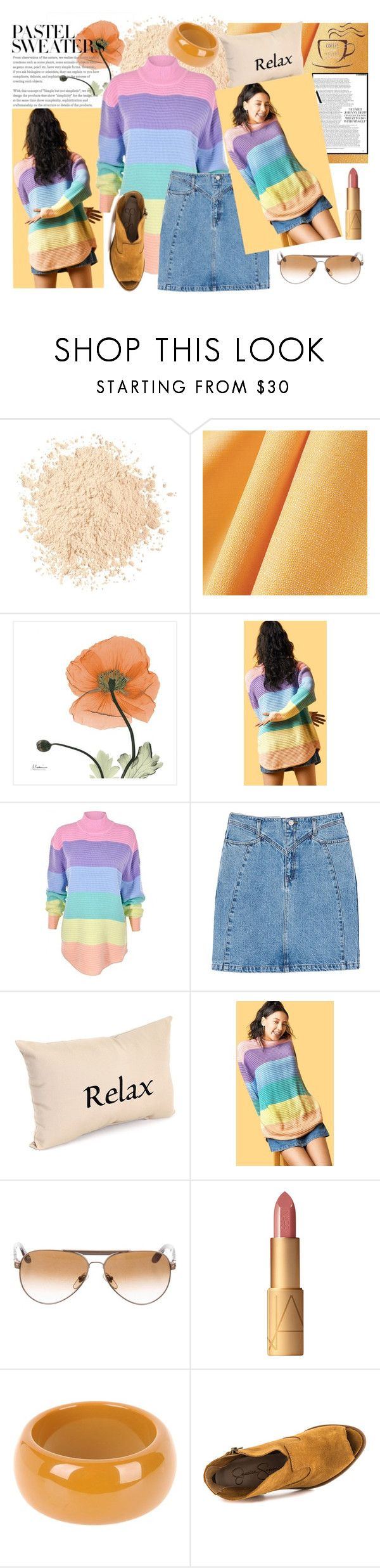 """""""Gentle palette"""" by eveofdestruction88 ❤ liked on Polyvore featuring Urban Decay, UNIF, MANGO, Persol, NARS Cosmetics, Dsquared2, Jessica Simpson, Sweater and pastelsweaters"""