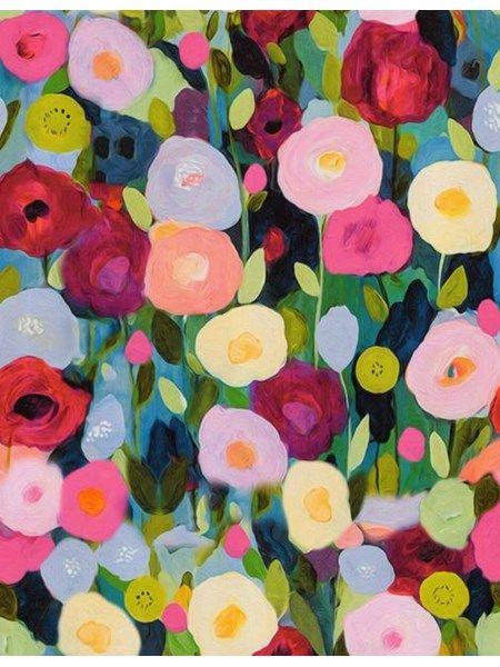 Bomuldsjersey - printet med kunstner blomster