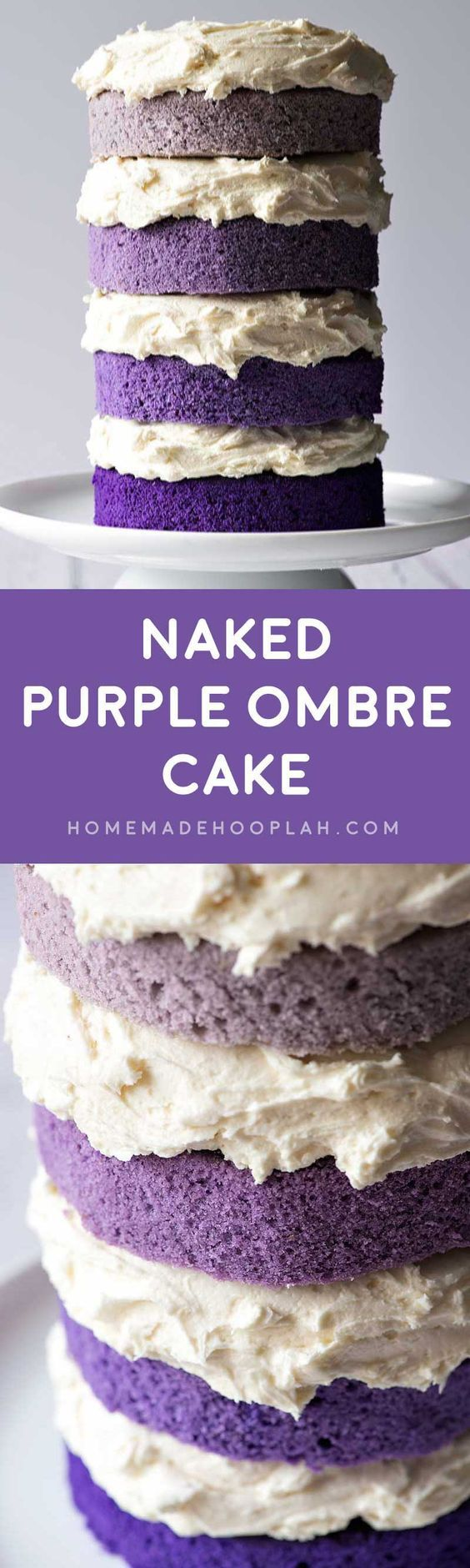 Naked Purple Ombre Layer Cake! Beautiful layers of purple ...