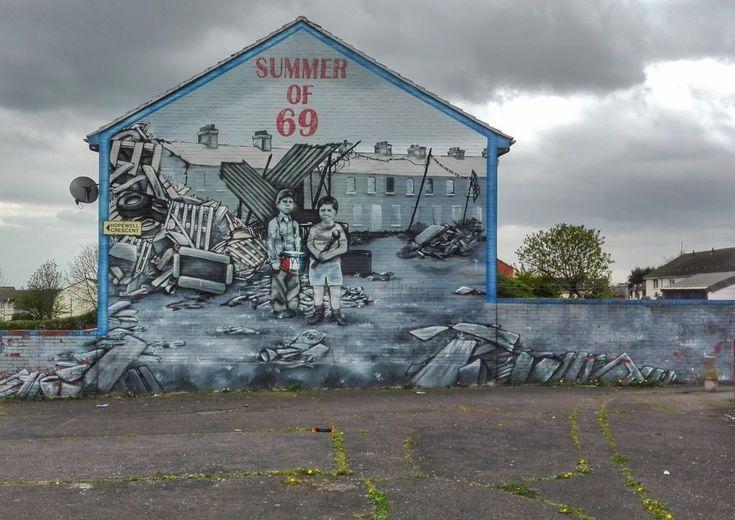 Belfast murales. Street art at its finest