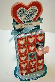 Adorable Valentine Advent Calendar!  Would love to find some time to make it!!