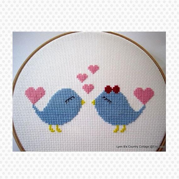 love birds cross stitch