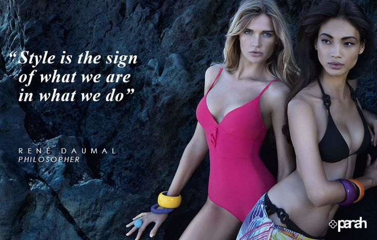 Style is always expression of a way to be. Choose which version you would like to show off this summer!  #Quotes #ParahWorld #Parah #style #madeinitaly #fashion #elegance #inspiration #sensuality #lingerie #underwear #moda