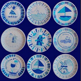 The Delft Blauw or Delftware. A blue and white pottery from Royal Delft- Koninklijke Porceleyne Fles, the last Delft potter. #whattobuy #Delft