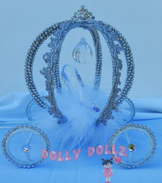 Cinderella Carriage Cake Topper Centerpiece by DollyDollz on Etsy