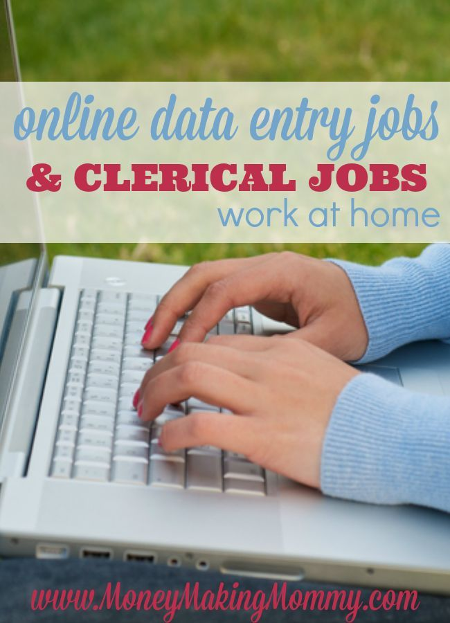 If data entry or clerical work is appealing to you and you're wanting to work from home - please check out this list at http://MoneyMakingMommy.com to find great resources for finding this type of work at home.