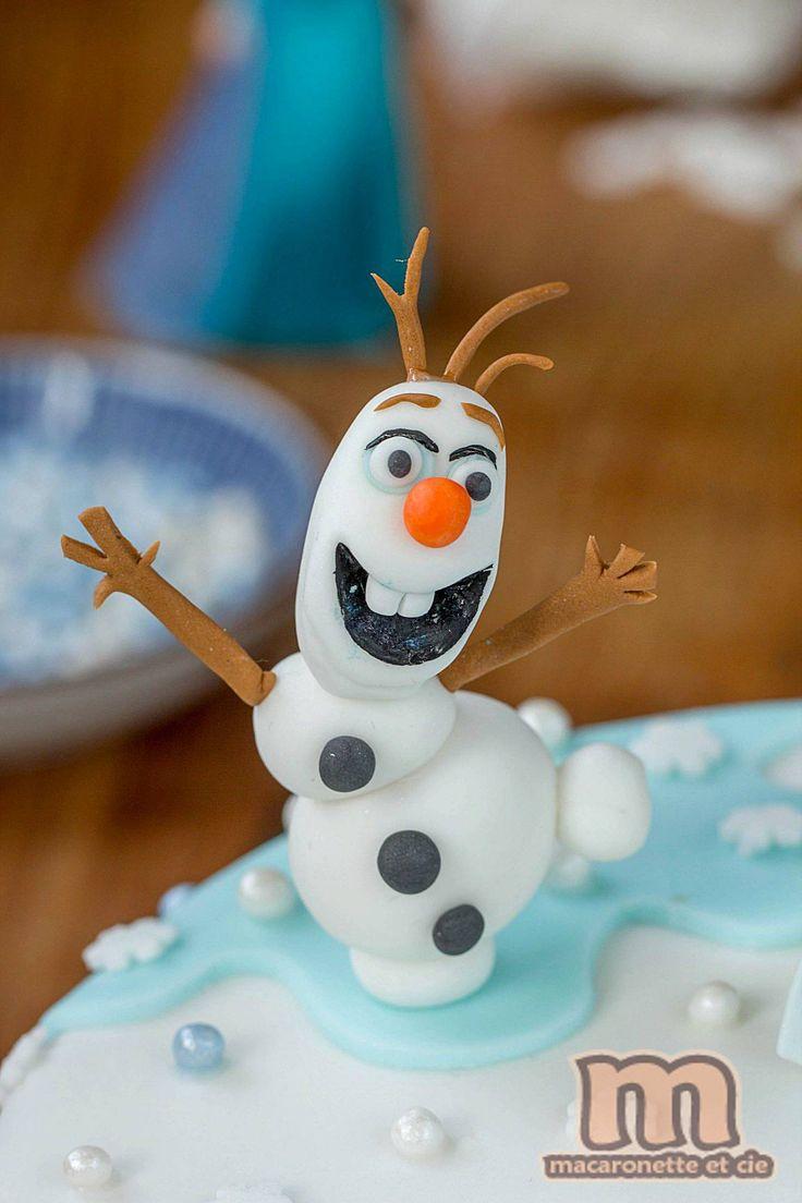 28 best cake snow polar images on pinterest christmas - Bonhomme de neige olaf ...
