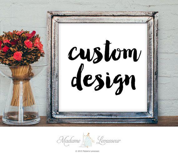 Custom Printable Art Typographic art print by MadameLevasseur
