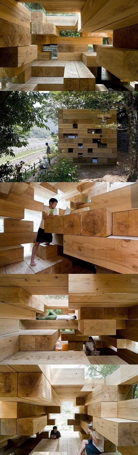 Sou Fujimoto wood house #soufujimoto #finalwoodenhouse