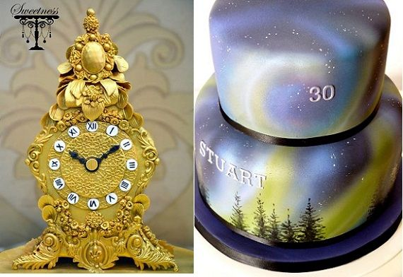 New Year's Eve Glamour Cakes