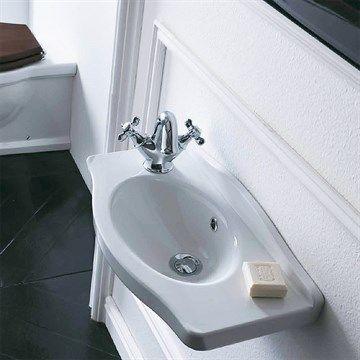 Flot lille klassisk håndvask til det nostalgiske badeværelse