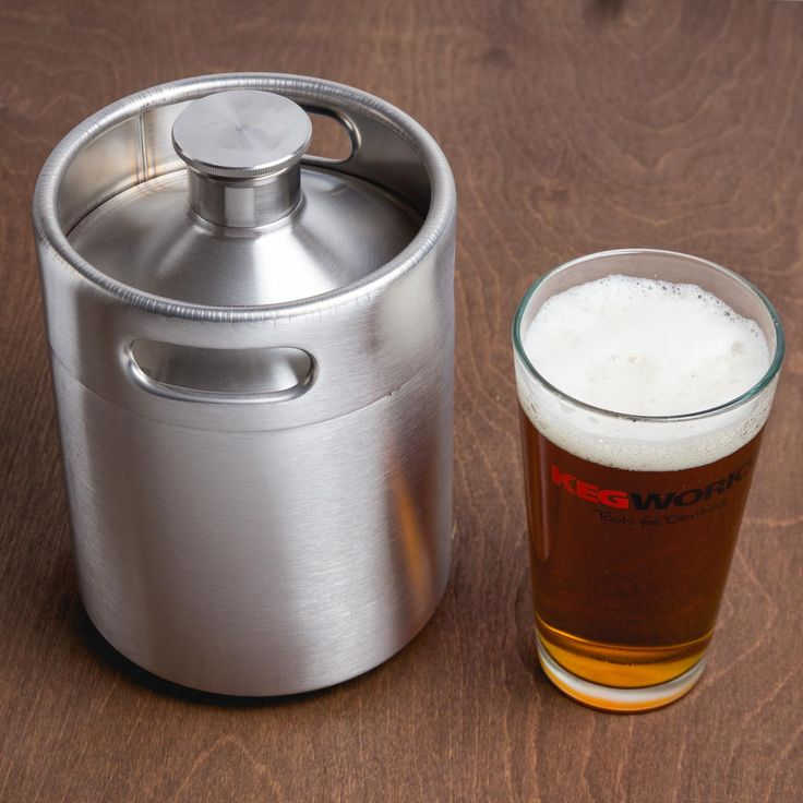 This unique stainless steel growler will hold a full 64 ounces of his favorite craft brew. And he'll have the coolest growler in town.