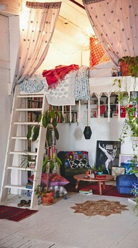 M s de 25 ideas incre bles sobre dormitorios hippies en for Muebles hippies