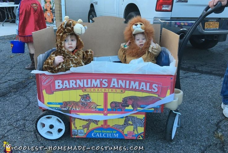 Adorable+Homemade+Animal+Crackers+Costume+for+Twin+Babies
