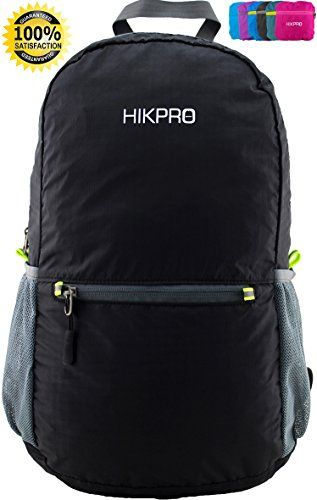 Ultralight Packable Backpack + Most Durable Foldable Hiking Daypack / THE BEST Ultra Lightweight Outdoor Travel Camping Biking School Backpacking / Perfect for Men and Women + Light Handy Travelling backpacks - 6.5 OZ Only + 5 Year Warranty! HIKPRO http://www.amazon.com/dp/B00KX0B5TW/ref=cm_sw_r_pi_dp_8JMtub0RQPPS7