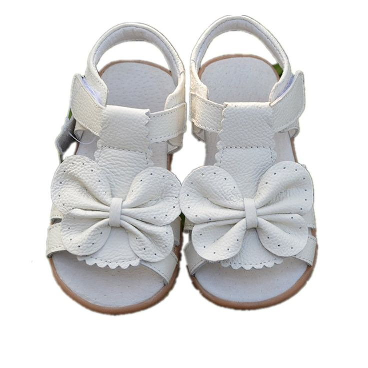 Bumud Girls First Walkers Bowknot Open Toe Sandals (Toddler/Little Kids) **