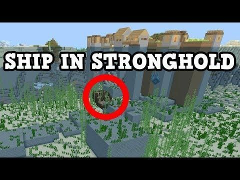 Minecraft PE / Xbox Seed - Stronghold IN A SHIP Seed