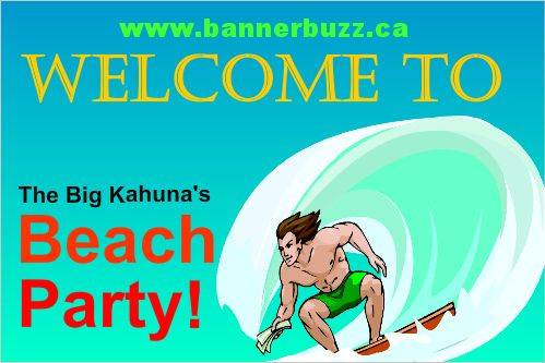 Beach Party Banner Online. Personalize your banner for your organized beach party from www.bannerbuzz.ca