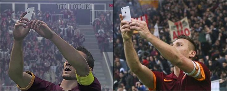 PES 2016 will have Totti's selfie celebration. That's class.